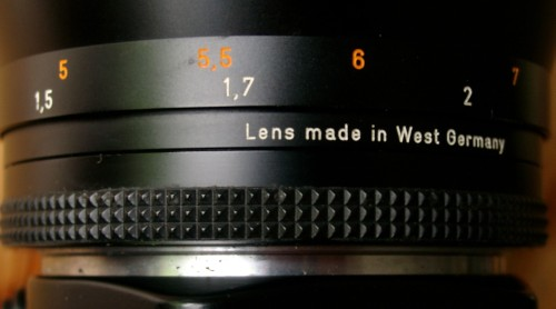 Lens made in West Germany